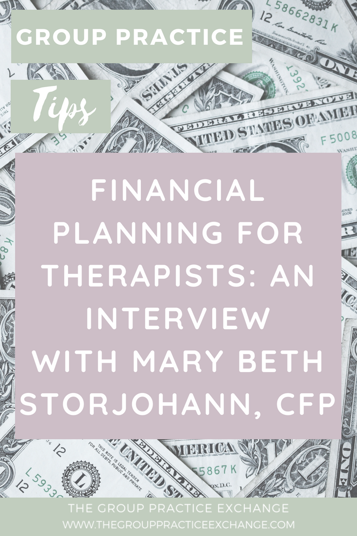 Financial Planning for Therapists