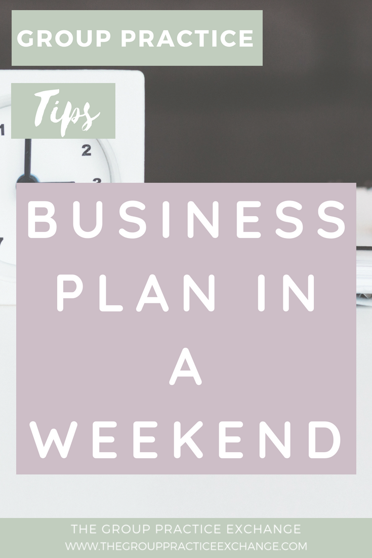 Business Plan in a Weekend